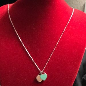 Authentic Tiffany & Co two Hearts Necklace